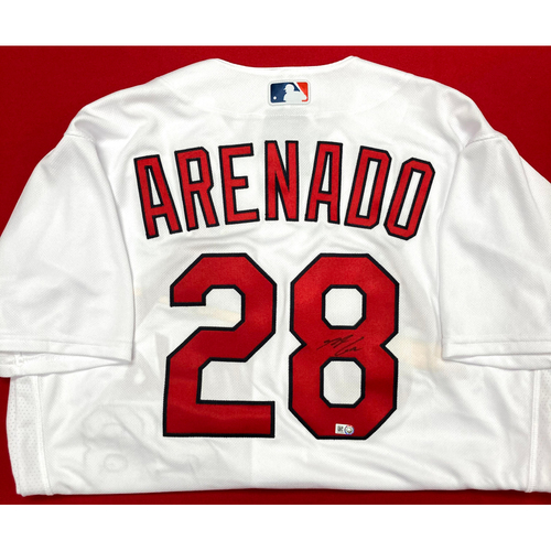 Photo of Nolan Arenado Autographed Replica Home Jersey (Size 44)