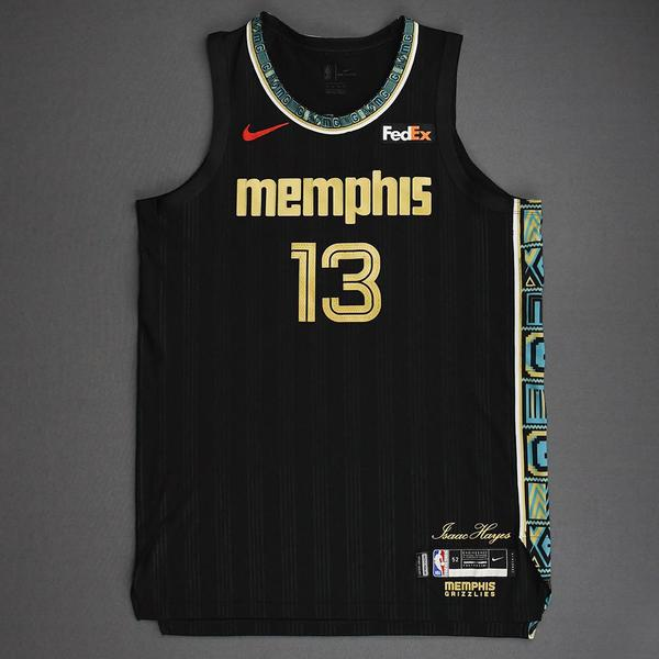 Image of Jaren Jackson Jr. - Memphis Grizzlies - Game-Worn City Edition Jersey - 1 of 2 - 2021 NBA Playoffs