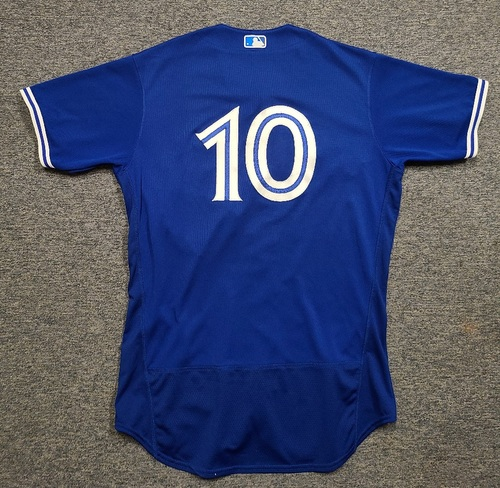 Photo of Authenticated Game Used Spring Training Jersey: #10 Marcus Semien (Mar 28, 2021: 0-for-2 with 1 Run and 1 BB). Size 46.