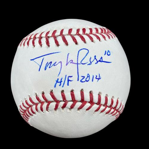 Photo of Tony La Russa Autographed Baseball
