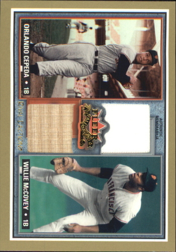 Photo of 2002 Fleer Fall Classics Rival Factions Game Used Dual #17 Orlando Cepeda Bat/Willie McCovey Jsy SP/