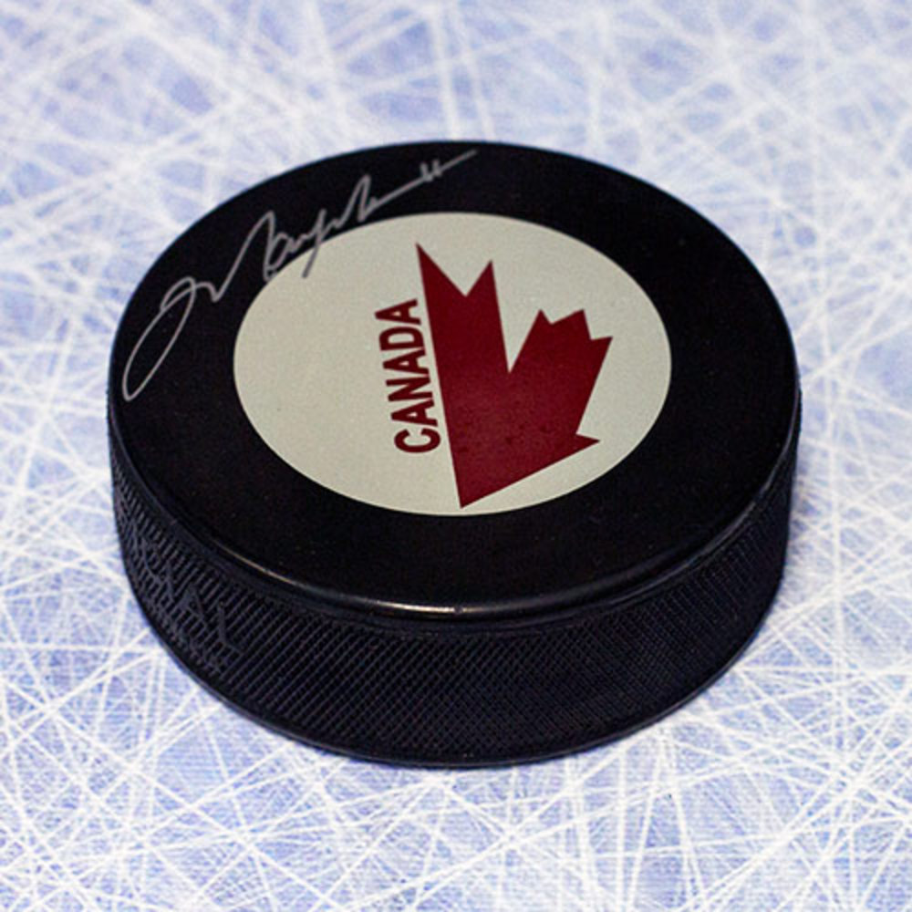 Mark Messier Team Canada Autographed Canada Cup Hockey Puck