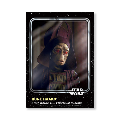 Rune Haako 2016 Star Wars Card Trader Base Poster - # to 99