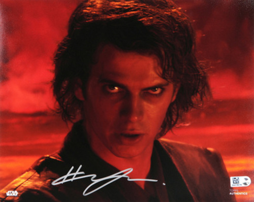 Hayden Christensen as Anakin Skywalker 8x10 Autographed in Sliver Ink Photo