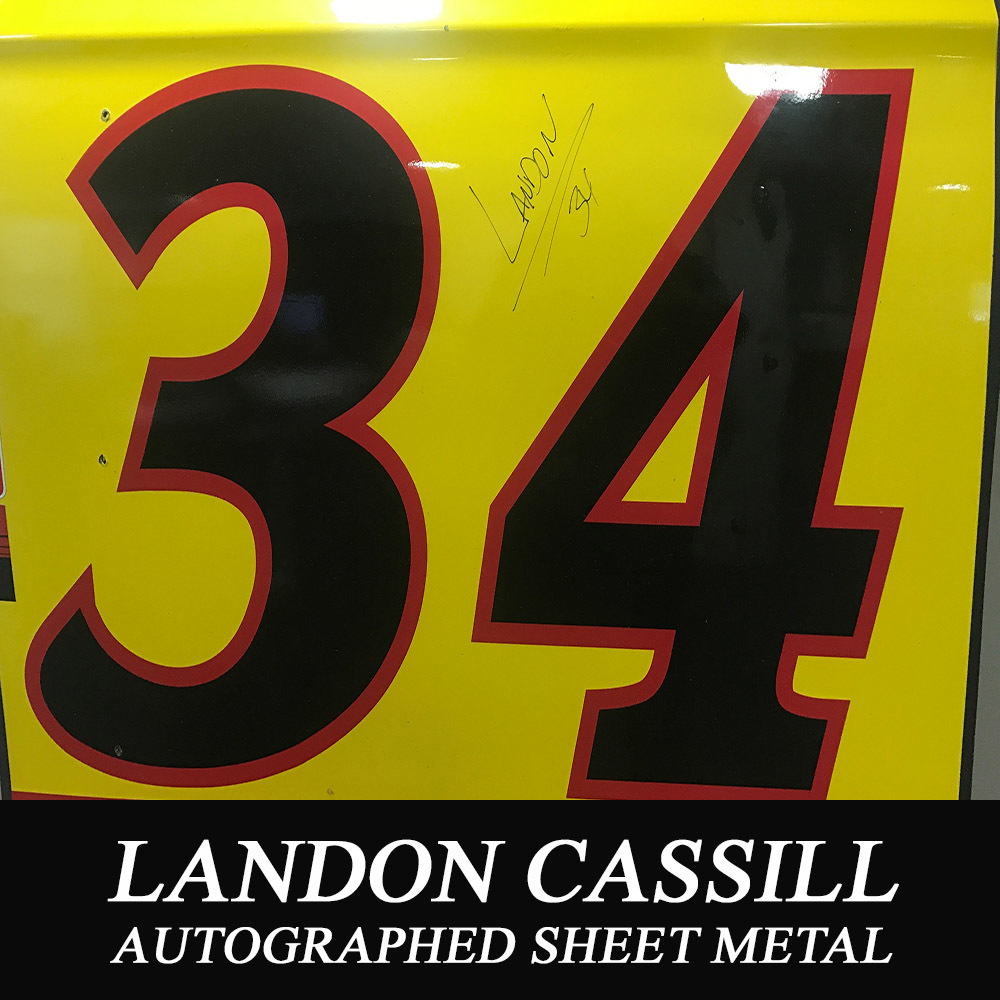 Autographed Sheet Metal from Landon Cassill: May 2017 Talladega Superspeedway from AIDB