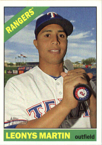 Photo of 2015 Topps Heritage #609 Leonys Martin