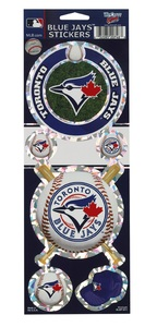 Toronto Blue Jays Prismatic Sticker Sheet by WinCraft