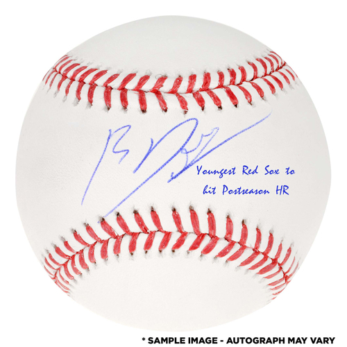Photo of Rafael Devers Boston Red Sox Autographed Baseball with Youngest Red Sox to Hit Postseason Home Run Inscription -  Limited Edition of 20