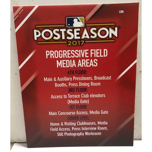 Photo of Postseason 2017 Progressive Field Media Areas Signage