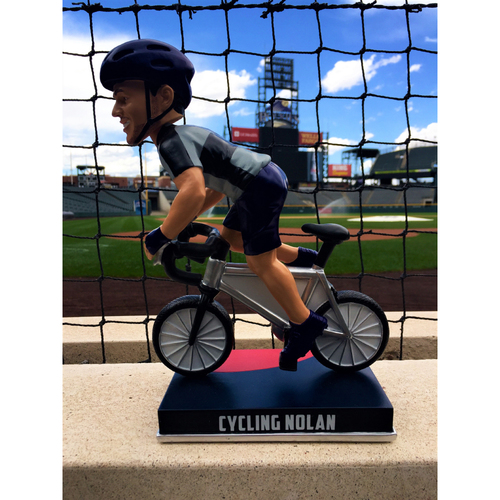 Photo of Nolan Arenado Colorado Life Style Bobblehead - Cycling