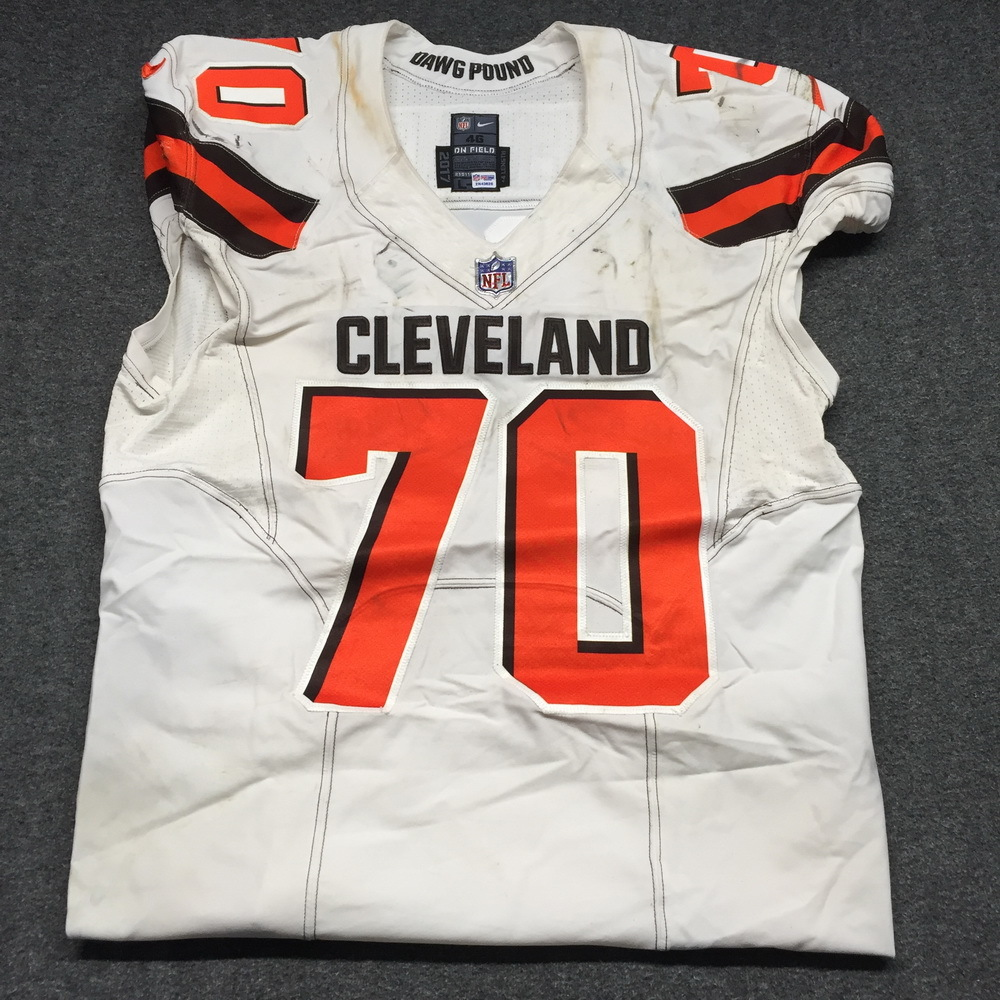 new styles 52d60 d17e0 NFL Auction | London Games - Browns Kevin Zeitler Game Worn ...