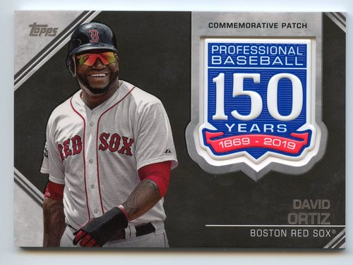 Photo of 2019 Topps 150th Anniversary Manufactured Patches #AMPDO David Ortiz S2