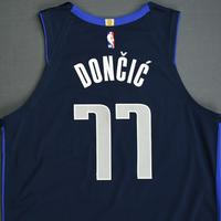 Luka Doncic - Dallas Mavericks - 2018-19 Season - China Games - Game-Worn Blue Icon Edition Jersey - Worn 2 Games