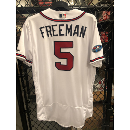 Photo of Freddie Freeman Game Used NLDS Jersey - Worn 10/8/2018 Game 4