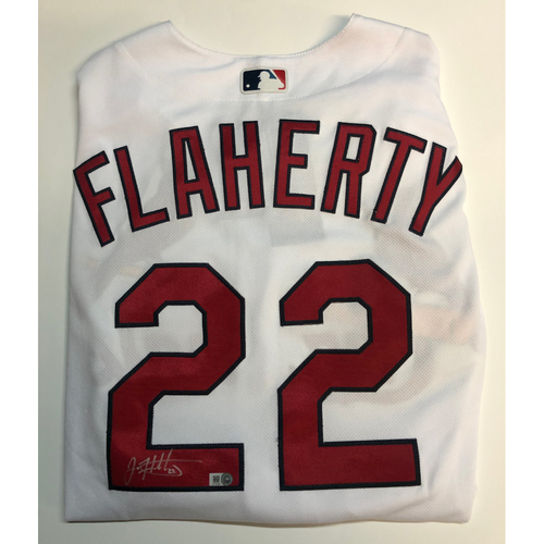 Photo of Jack Flaherty Autographed Authentic Cardinals Jersey