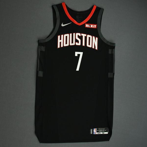 Image of Jaron Blossomgame - Houston Rockets - Game-Worn Statement Edition Jersey - NBA Japan Games - 2019-20 NBA Season