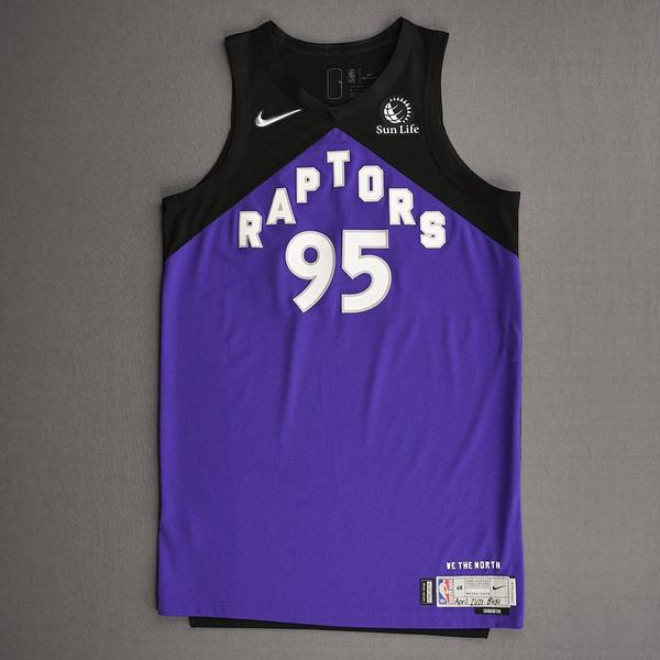 Image of DeAndre' Bembry - Toronto Raptors - Game-Worn Earned Edition Jersey - Dressed, Did Not Play (DNP) - 2020-21 NBA Season