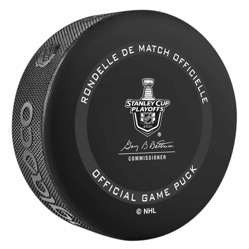 2021 Stanley Cup Playoffs Game Issued Puck