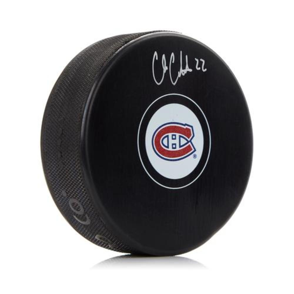 Cole Caufield Montreal Canadiens Autographed Hockey Puck