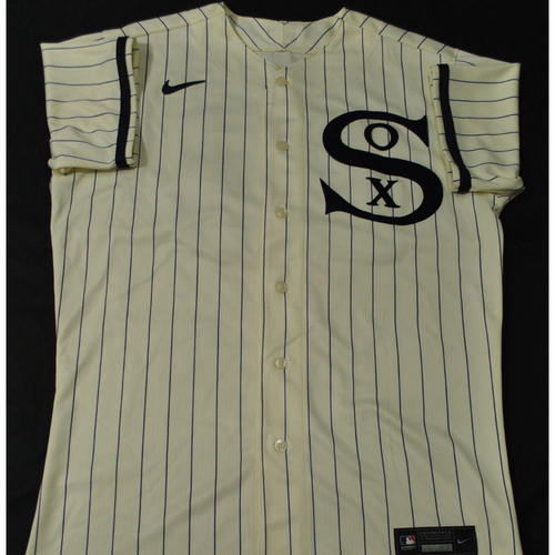 2021 New York Yankees vs. Chicago White Sox in Dyersville, Iowa - Game-Used 1919 Throwback Jersey - Jake Lamb - Size 44