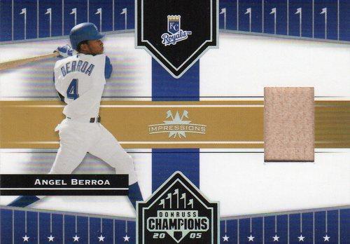 Photo of 2005 Donruss Champions Impressions Material #90 Angel Berroa Bat T5