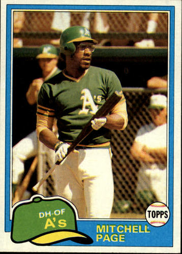 Photo of 1981 Topps #35 Mitchell Page
