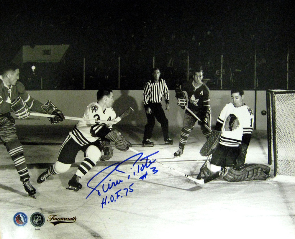 Pilote,P Signed 8x10 Photo Only Horiz vs Leafs B&W