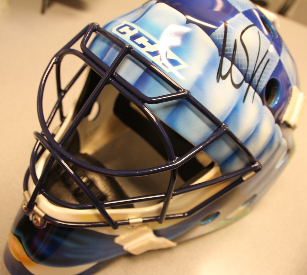 0ecfe309e Roberto Luongo Movember Mask - Vancouver Canucks - NHL Auctions
