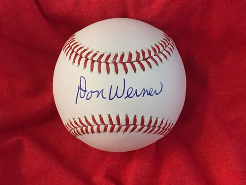 Photo of Don Werner Autographed Baseball