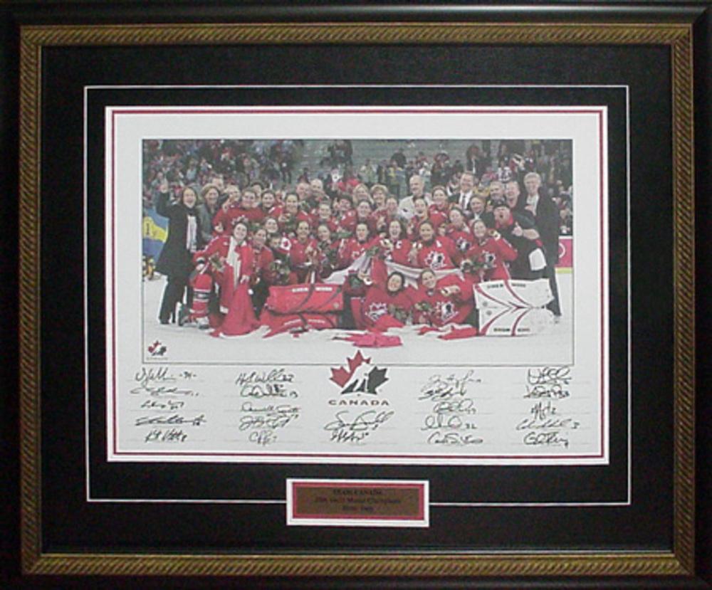 Team Canada - Multi Signed 2006 Gold Photo