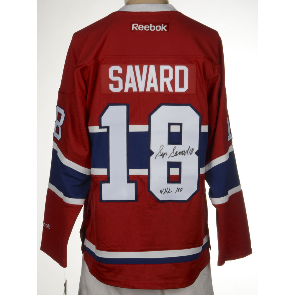 Serge Savard Montreal Canadiens Autographed Reebok Premier Jersey with Centennial  Patch and NHL 100 Inscription. Auctioned by the National Hockey League ... 96b11fdc3