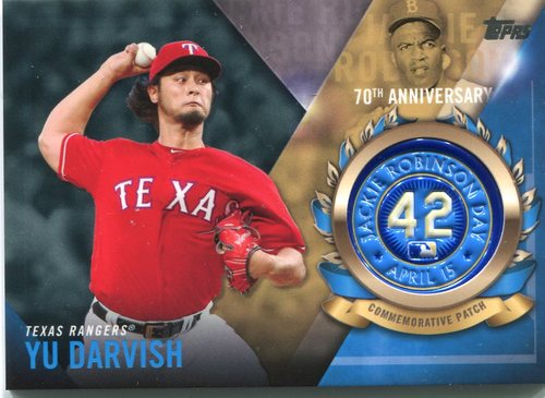 Photo of 2017 Topps Jackie Robinson Logo Patches #JRPCYD Yu Darvish