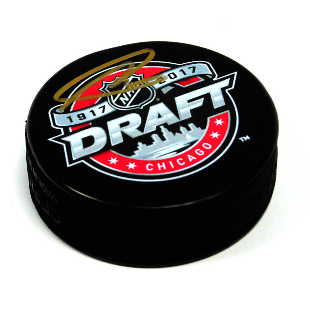 Nolan Patrick 2017 NHL Draft Day Puck Autographed Hockey Puck *Philadelphia Flyers*