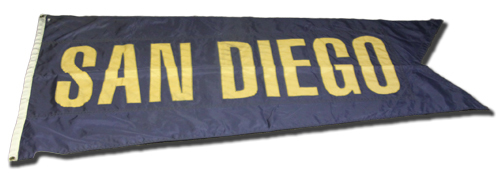 Wrigley Field Collection -- Rooftop Flag -- San Diego