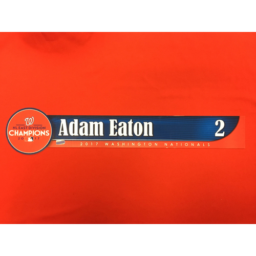Photo of Game-Used Locker Name Plate: Adam Eaton
