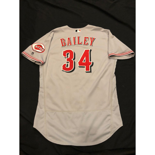 Photo of Homer Bailey - Game-Used Jersey - Authenticated to 3 Starts, Including 2 Wins