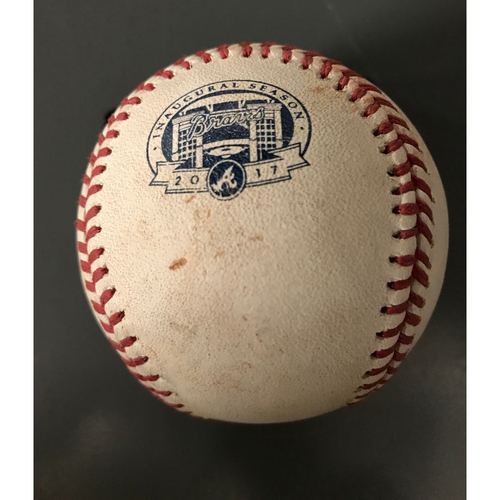 Photo of Johan Camargo Game-Used Hit Double Baseball - 7/15/17