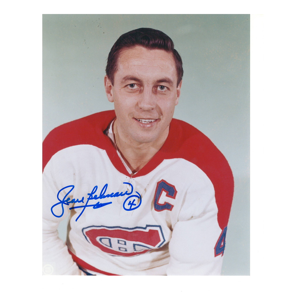 JEAN BELIVEAU Signed Montreal Canadiens 8 X 10 Photo - 70498