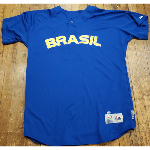 Photo of 2013 World Baseball Classic Game Used Jersey - Tiago Magalhaes - Size 48 (Brazil)