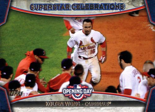 Photo of 2015 Topps Opening Day Superstar Celebrations #SC16 Kolten Wong