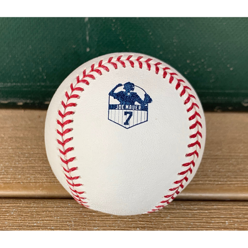 Photo of PRESALE: Game-Used Baseball from Joe Mauer Retirement Game - 6/15/19