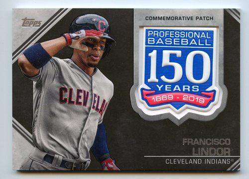 Photo of 2019 Topps 150th Anniversary Manufactured Patches #AMPFL Francisco Lindor S2