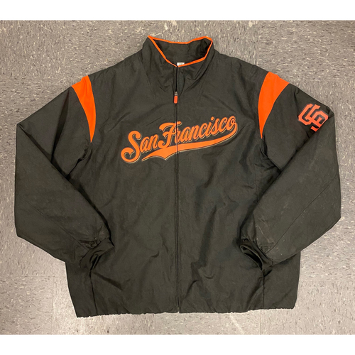 Photo of 2019 On-Field Jacket - used by #29 Jeff Samardzija during 2019 Season - Size XXL