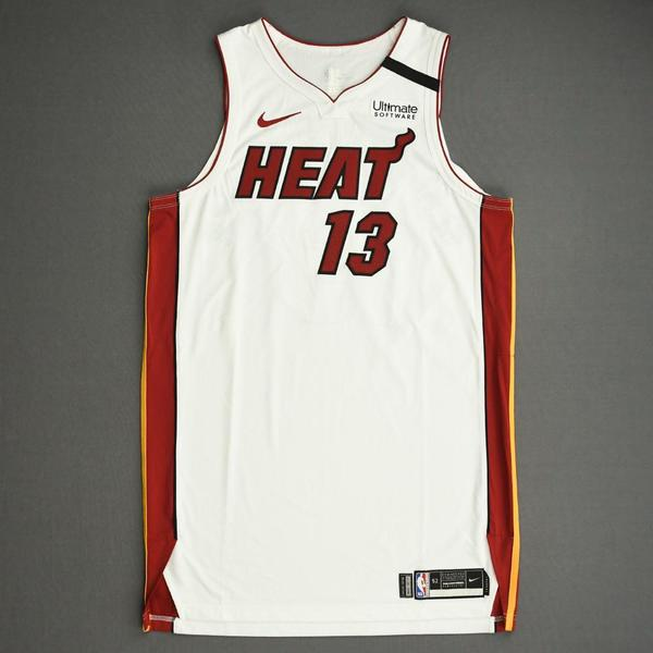 Image of Bam Adebayo - Miami Heat - Game-Worn Association Edition Jersey - Scored 22 Points - 2019-20 NBA Season Restart with Social Justice Message
