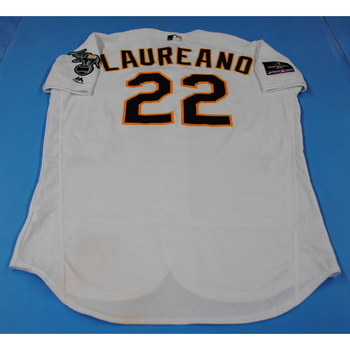Photo of Game-Used Jersey - 2019 Japan Series - Seattle Mariners vs. Oakland Athletics - 3/21/2019 - Ramon Laureano
