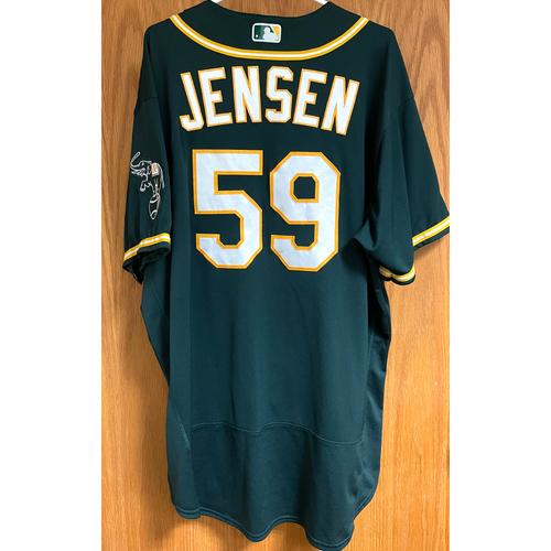 Photo of Marcus Jensen Game-Used 2020 Regular & Postseason Jersey