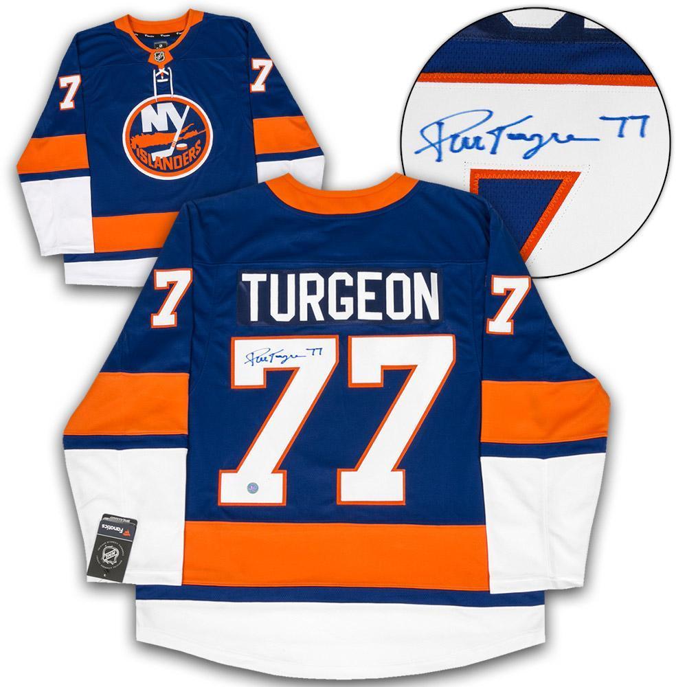 Pierre Turgeon New York Islanders Autographed Fanatics Jersey