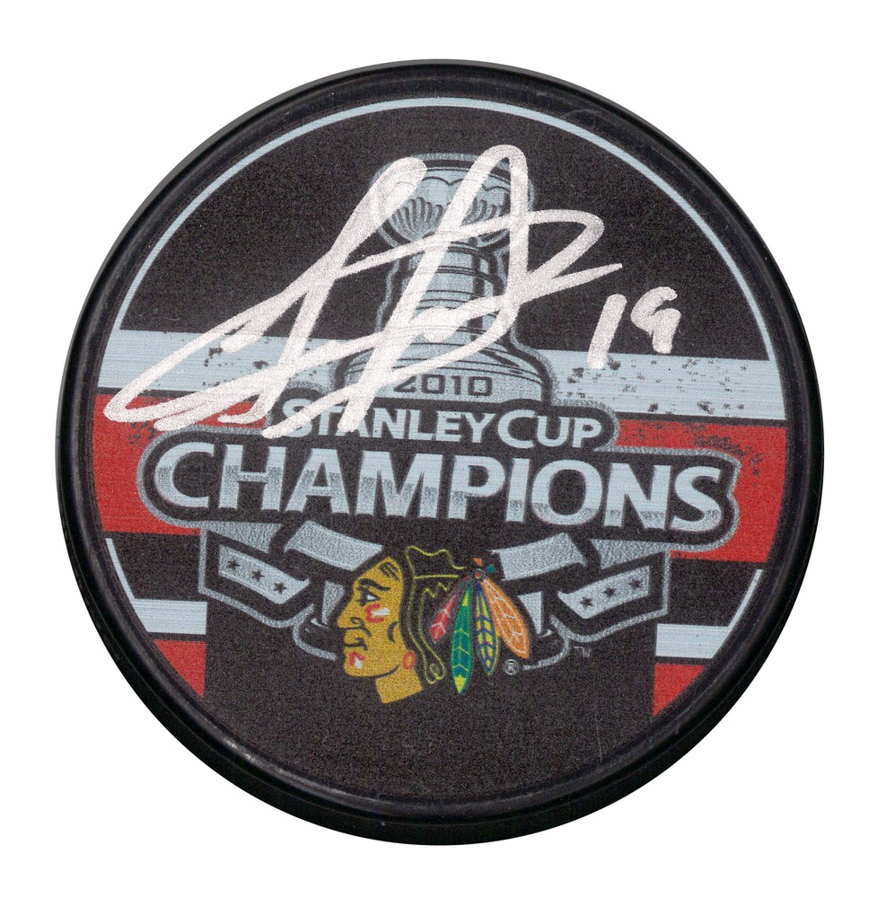 Jonathan Toews Signed Blackhawks 2010 Stanley Cup Champions Puck