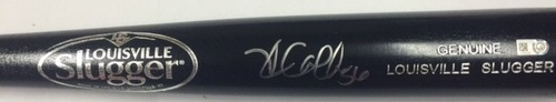 Photo of Kole Calhoun Autographed Black Louisville Slugger Bat