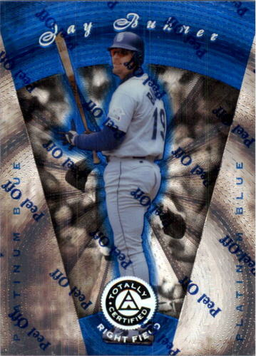 Photo of 1997 Pinnacle Totally Certified Platinum Blue #82 Jay Buhner